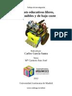 2012 Robots Educativos Libres Imprimibles y de Bajo Coste