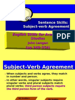 Wk 12 Subject-Verb Agreement