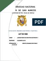 Ley de Oh m Lab Oratorio