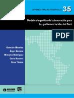 Serie Gerencia Desarrollo 35 Modelo Gestion Innovacion Gobiernos Locales Peru