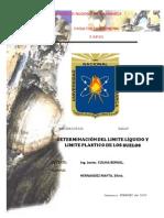 Informe - Limite Liquido y Plastico