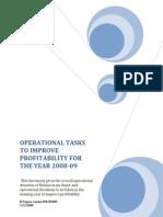 operational decisions bvrm depot 2008-09
