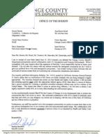OCSD Response Letter