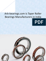Arb Bearings Com is Taper Roller Bearings Manufacturers in India