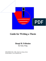 221 Guide for Writing a Thesis