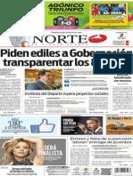 Periódico Norte edición del día 2 de julio de 2014