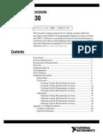 NI PXI-4130 Calibration Procedure