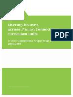 Literacy Focus Across Primary Connections