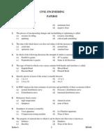 Previouspaper UKPSC Civil Engineering Paper II
