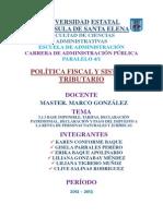 5.1.3 Base Imponible, Tarifas, Declaración Patrimonial, Declaración y Pago Del Impuesto a La Renta de Personas Naturales y Jurídicas