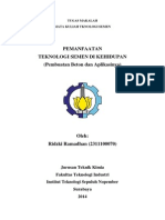 Pemanfaatan Teknologi Semen Di Kehidupan (Pembuatan Beton Dan Aplikasinya), Ridzki Ramadhan 2311100070