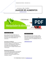 Manual Manipulador de Alimentos Coformacion