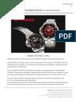 Press Release of Orient M-Force EL06