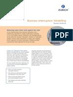 Business Interruption Modelling