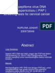 Human Papilloma Virus DNA Versus Papanicolaou Screening Tests