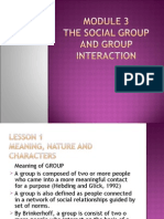 SOCIETY - The Social Group and Group Interaction