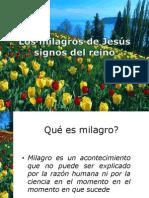 Los Milagros de Jesús Signos Del Reino