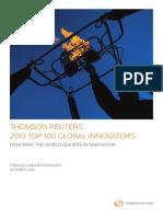 Thompson Innovation Innovative Companies Top100 2013