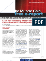 How To Build Muscle - The Secrets to a Good Workout