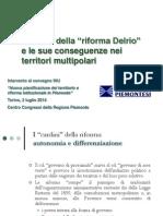 I Cardini Della Riforma Delrio e i Territori Multipolari