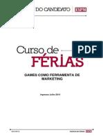 Curso Games Como Ferramenta de Marketing 2014-2