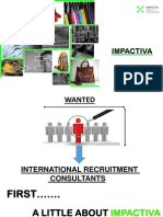 Impactiva International Recruitment Consultants Wanted