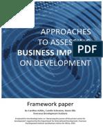 Impact Framework Paper 2009