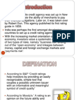 Reference Copy on credit rating