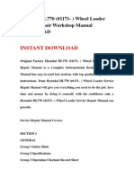 Hyundai HL770 (#1171- ) Wheel Loader Service Repair Workshop Manual DOWNLOAD