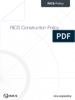 RICS Construction Policy 2013