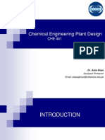 Plant Design Lecture 01