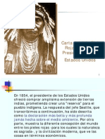 CARTA DEL JEFE PIEL ROJA SEATTLE AL PRESIDENTE DE EEUU
