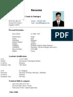 San Yu Resume