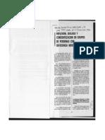 Reflexión, Diálogo y Concientización en Grupos de Personas Con Deficiencia Mental (1990)