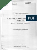 R+®gimen Acad+®mico An+ílisis y Aportes INFD diciembre 2012