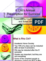 Rho Chi's Prescription for Success
