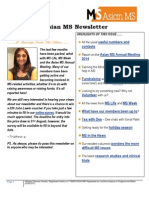 Asian MS Newsletter Issue 2, 2014