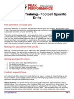 Plyometric Training Football Drills