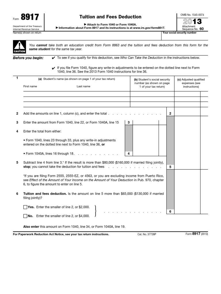 f8917   Irs Tax Forms   Tax Refund