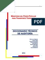 Diccionario Tecnico de Auditoria Por La SUNAI