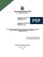 Evaluacion Del Mecanismo de Liberacion Del Florfenicosl a Partir de Una Matriz de Alimento Balanceado Usado en La Salmonicultura
