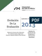 Evolución de La Evaluación