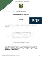 Certidão de Crimes Eleitorais — Tribunal Superior Eleitoral