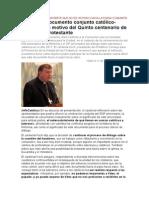 19-06-2013 El Cardenal Koch Advierte Que No Es Un Paso Hacia La Plena Comunión (Infocatólica)