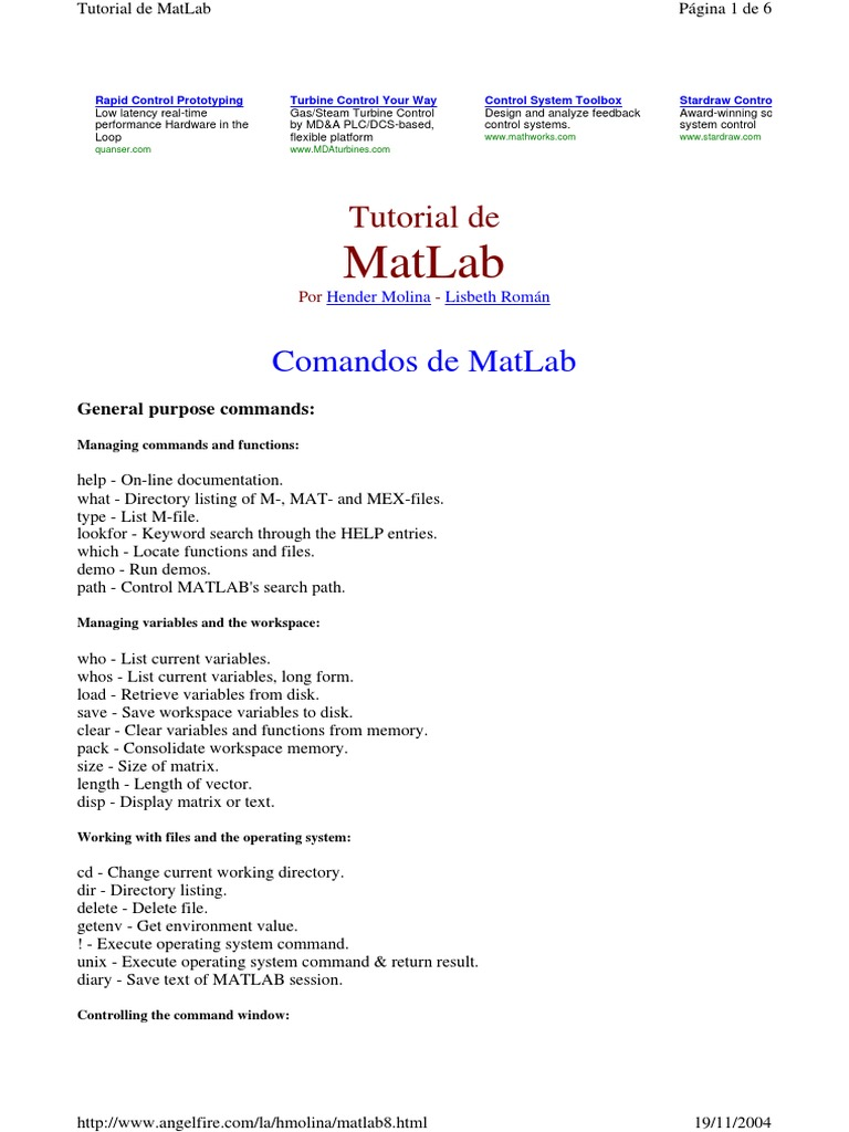 matlab8 | Matlab | Systems Theory