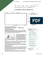 The ABC Model of Attitudes - Affect, Behavior & Cognition - Social Psychology Video
