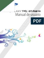 Manual Tabla Galaxy GT-P6810