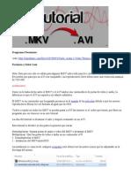 Tutorial MKV to AVI
