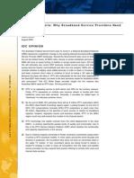 IPTV in Australia - Why Broadband Service Providers Need a Plan, IDC White Paper 2008