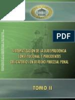Sistematizacion Del Jurisprudencia Constitucional y Precedentes Obligatorios en Derecho Procesal